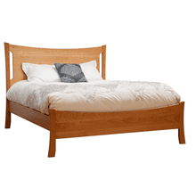 Queen Armstrong Solid Natural Cherry Panel Bed with Low Footboard