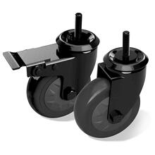 "Caster Kit- 4"" Fits any table or nest Set of 2, 1 locking 1 non-locking"