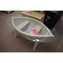 boat cocktail table as-is freight damaged