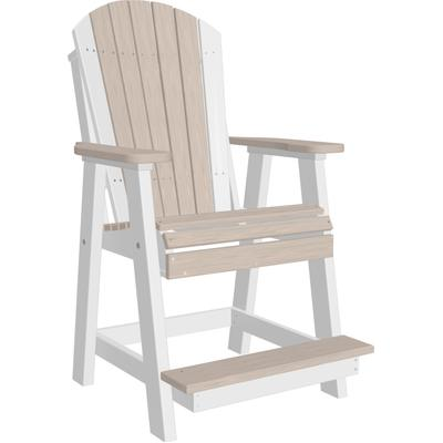 Adirondack Balcony Chair Premium Birch and White