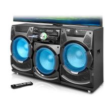 """See Details - 10,000 Watt Professional Triple 15"""" Entertainment Center with Bluetooth and Built-In DVD Player"""