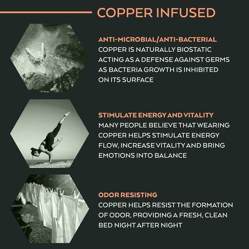 Corsicana - RENUE - 12 Inch Copper & Gel Infused Hybrid - Medium Firm
