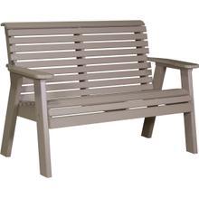 Plain Bench 4' Weatherwood
