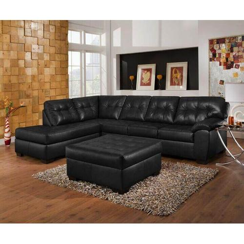 Simmons Upholstery - 9568 Onyx LAF Chaise/RAF Sofa