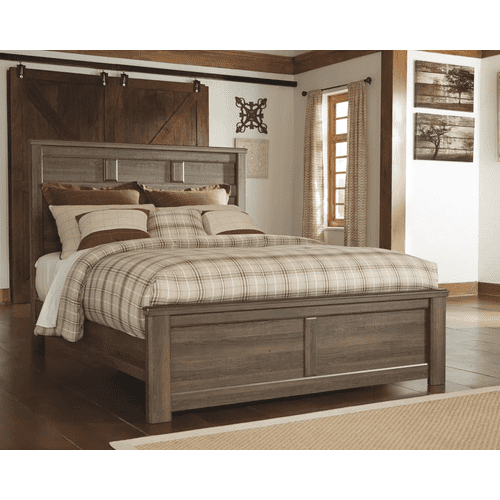 Juararo- Dark Brown- Queen Panel Bed