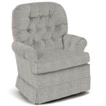 MARLA Swivel Glide Chair in Salt-n-Pepper   (1559-21783B,40077)