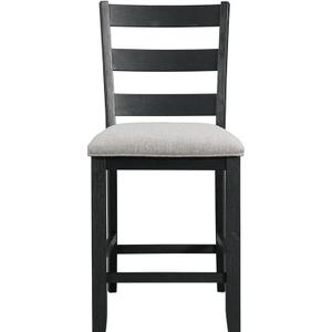 Elements - 5-Piece Martin Counter Height Dining Set in Grey & Black Finish