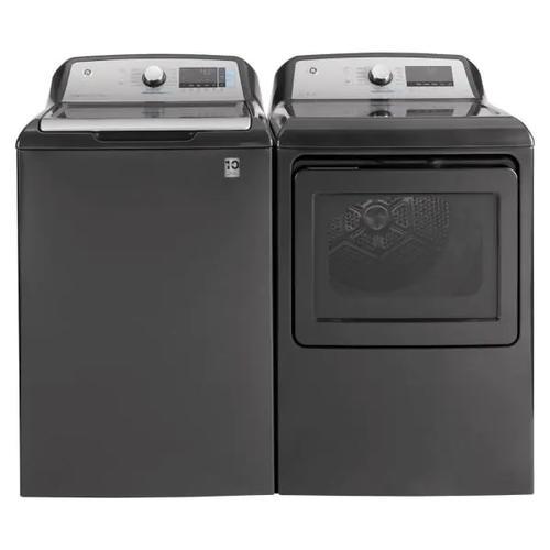 GE 5.2 cu. ft. Capacity Smart Washer & 7.4 cu. ft. Capacity Smart Dryer