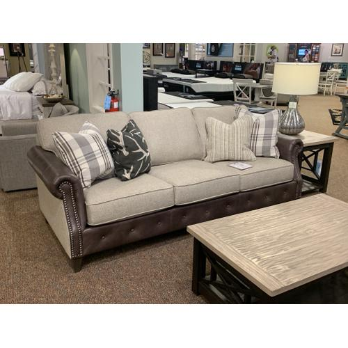 Native By Mayo - Boucle Pearl Obsession Leather Sofa
