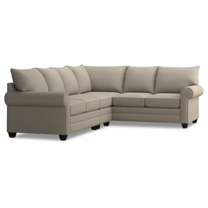 Alex Roll Arm Left Sectional - Straw