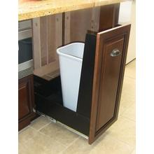 "12"" Recycling Cabinet Black/Panel Ready"