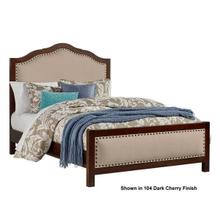 A&P 3-Piece Upholstered Queen Size Bed in Amish Cherry Finish