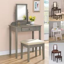 Crown Mark Iris Vanity & Stool