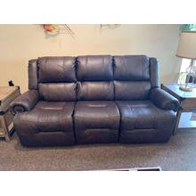 Texas Leather Power Reclining Sofa - Space Saver