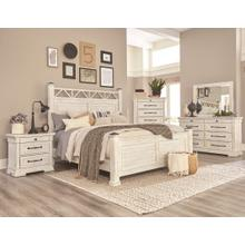 C8047  Bed, Dresser/Mirror, Chest & Nightstand - Antique White