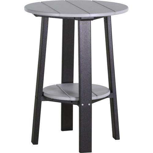 """Deluxe End Table 28"""" Dove Gray and Black"""