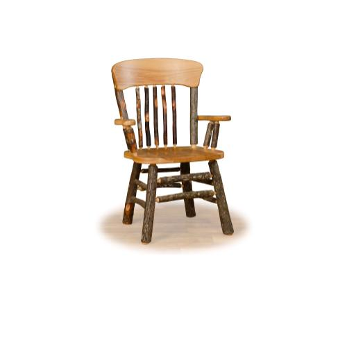Hickory Oak Back Arm Chair