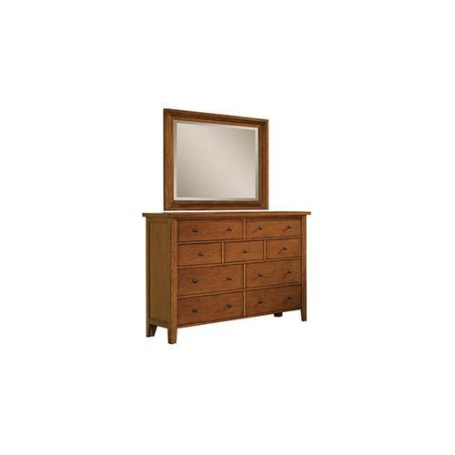 Vintage Cognac 9-Drawer Dresser