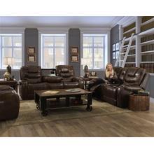Vintage Carmel Leather Reclining Sofa & Loveseat