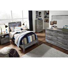 Baystorm Twin Size 4 Piece Bedroom Set - Includes: Twin Bed,Dresser,Mirror,Narrow Chest