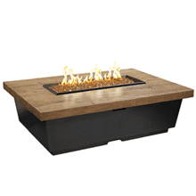 Contempo Rectangle Firetable French Barrel Oak