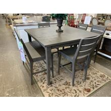 See Details - Counter Height Table, 4 Chairs, and One Bench