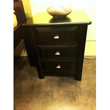 3 Drawer Nightstand Black Cherry