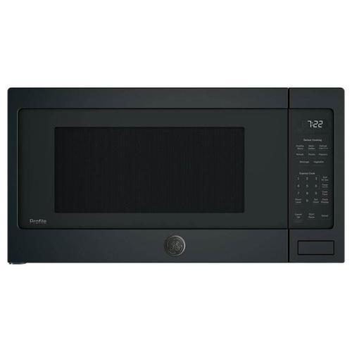 GE Profile 2.2-cu ft 1100-Watt Countertop Microwave (Black Slate)