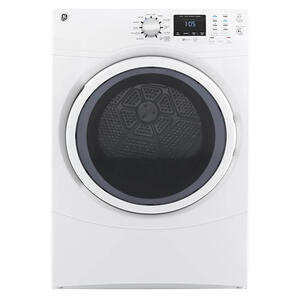 GE 7.5CF White Front Load Electric Dryer Product Image