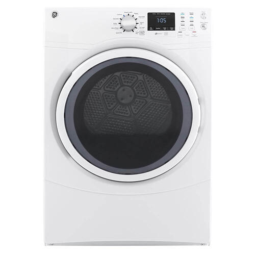 GE 7.5CF White Front Load Electric Dryer