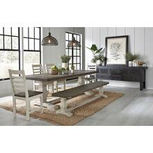 See Details - Rustic Farmhouse Dining Table with Chairs and Bench - Going Fast! Only 1 Left In Stock