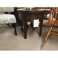 "Ashley ""Holloway"" Dark Brown Round End Table T516-6 FD 24""D-24""H"