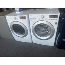 Refurbished LG White Front Load Washer Dryer Set Please call store if you would like additional pictures. This set carries our 6 month warranty, MANUFACTURER WARRANTY AND REBATES ARE NOT VALID (Sold only as a set)