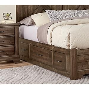Cool Rustic X-Back Bed