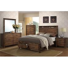 Rustic brown 4 piece bedroom set