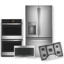 """See Details - GE PROFILE 27.7 Cu. Ft. French Door Refrigerator & 36"""" Built-In Gas Cooktop Package"""