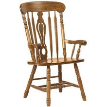 See Details - Colonial Key Hole Arm Chair