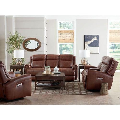 Marquee Motion Sofa w/ Power in Chocolate