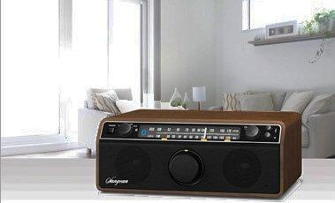 FM/AM/Aux-in/Bluetooth Wooden Cabinet Receiver