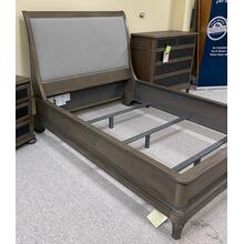 See Details - Bedroom Group Includes: Queen Sleigh Bed, Headboard, Footboard, Rails, Nightstand & Metal Front Chest