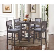 Gia 5 Piece Pub Dining Room Set: Pub Table & 4 Chairs