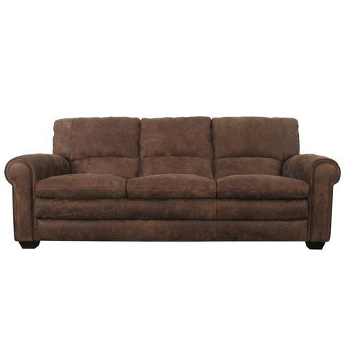 Softline Leather Sofa in Espesso Nuback