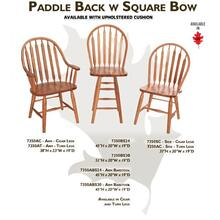 Paddle Back w/ Square Bow