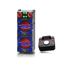 See Details - TECH PRO SPEAKER w/Built in Scratching DJ Mixer & Lights