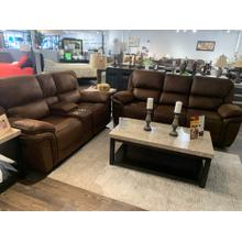 Generation Trade Lariat Brown Reclining Sofa and Loveseat
