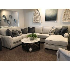 Gallery - 4 Piece Sectional with Nailheads