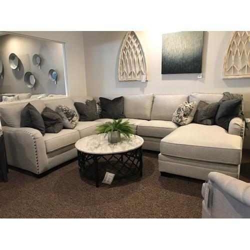 4 Piece Sectional with Nailheads