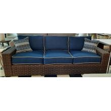 See Details - Outdoor Wicker Patio Sofa with Cushions