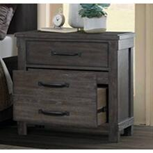 Scott Dark Bedroom Nightstand with USB Ports