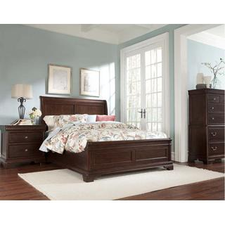 1700 Queen Storage Group:  Queen Panel Storage Bed, Dresser, Mirror, Chest & 1 Nightstand